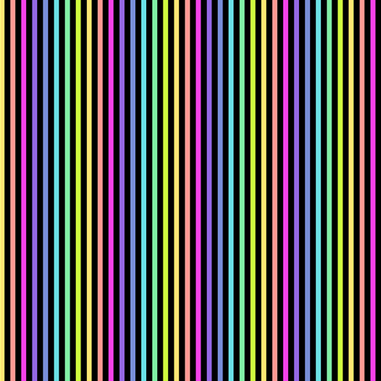 Rainbow Stripe Black