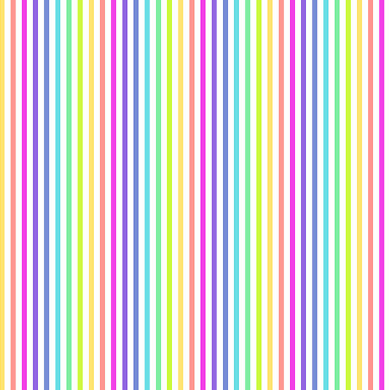 Rainbow Stripe White