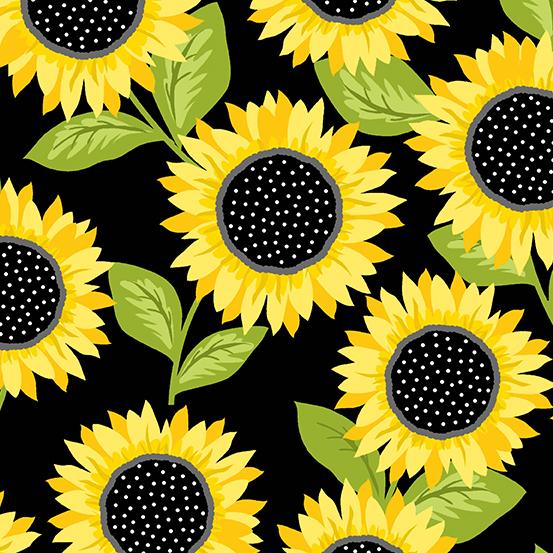 Sunny Bee - Sunflowers - Black