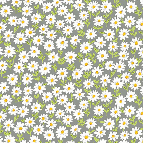 Andover Sunny Bee A-9432-C Daisy on Gray