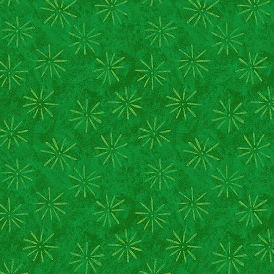 Andover Holiday Treats Snowflakes - Green
