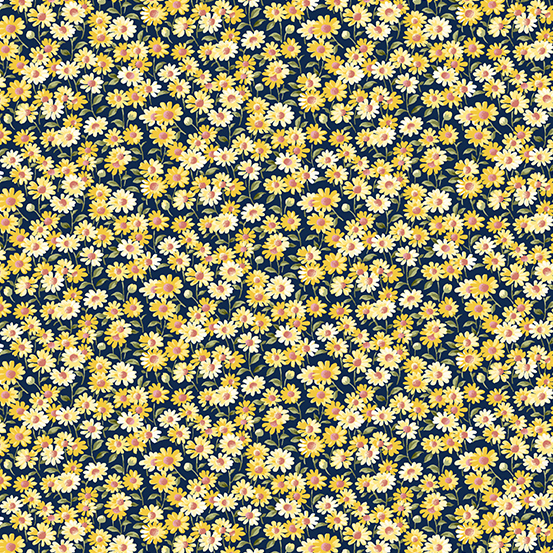 Mayflower by Andover Fabrics Sm Blue/Yellow A-9508-BY