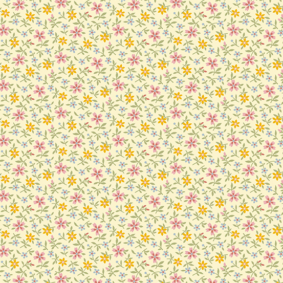 Mayflower Tiny Yellow Floral A-9509-E