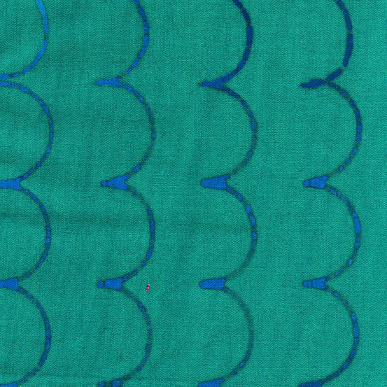 Stitched AB-9042-B1 Denim Scallop