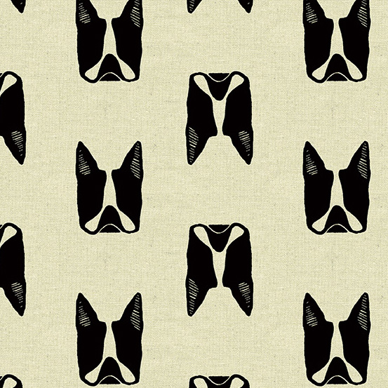 Cats and Dogs Maker Maker Canvas Black Boston Terrier