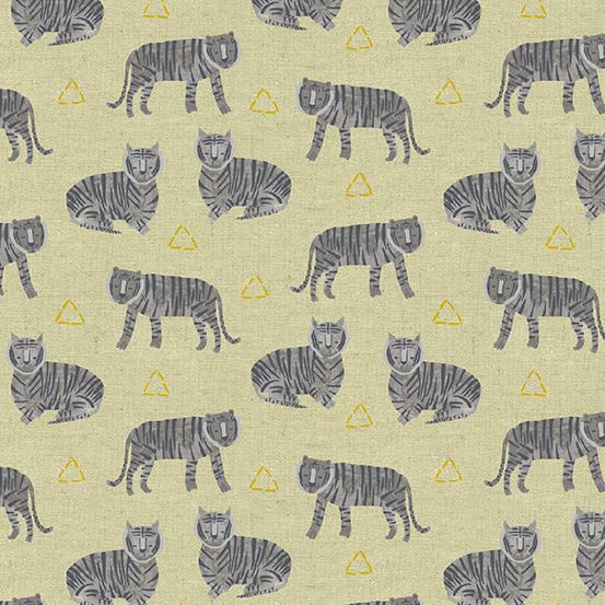 Andover Tiger Plant ALN-8646-MC 55% Linen