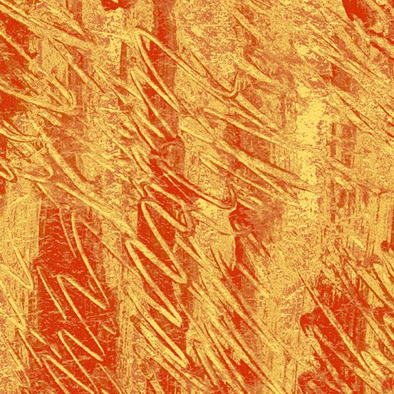 Polar Bear Kids, Fingerpainting Orange,  P0260-3476-O - Hungry Caterpillar Coordinate - by Andover Fabrics