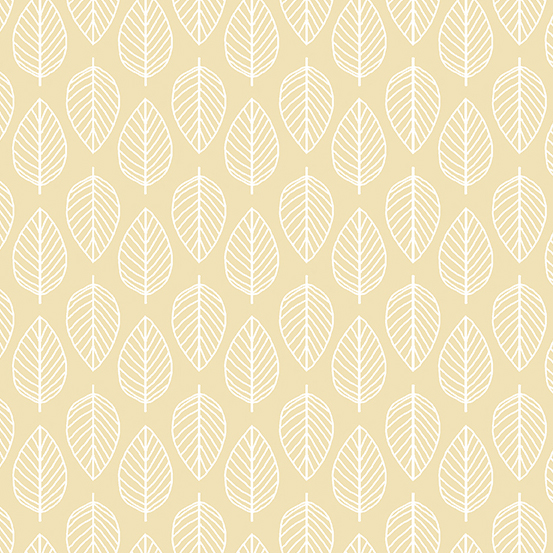 Essentials - Cream - Leaves MK1910