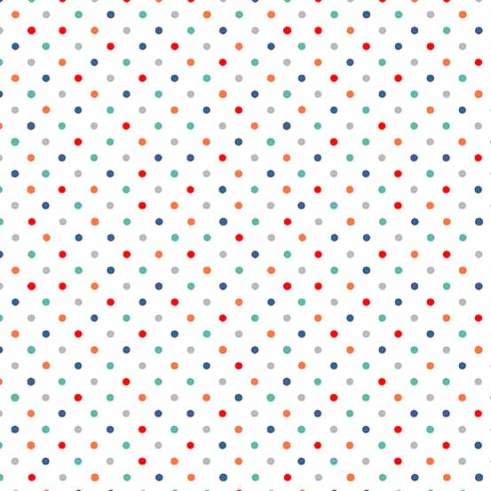 Sea Breeze Multi Dot White