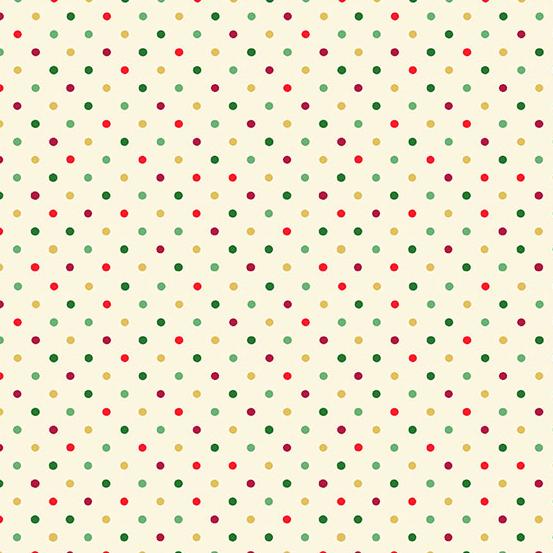 12 Days of Christmas TP-1948-Q Cream Multi Dot