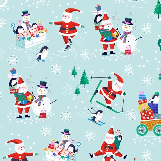 Jolly Santa Scenic in Blue