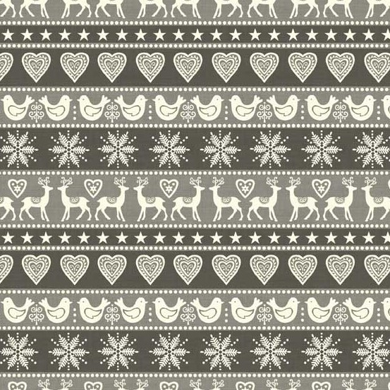 Fabric - Scandi 2018 Silver border print