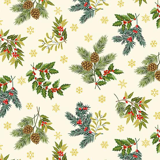 Deck the Halls Foliage Scatter Cream