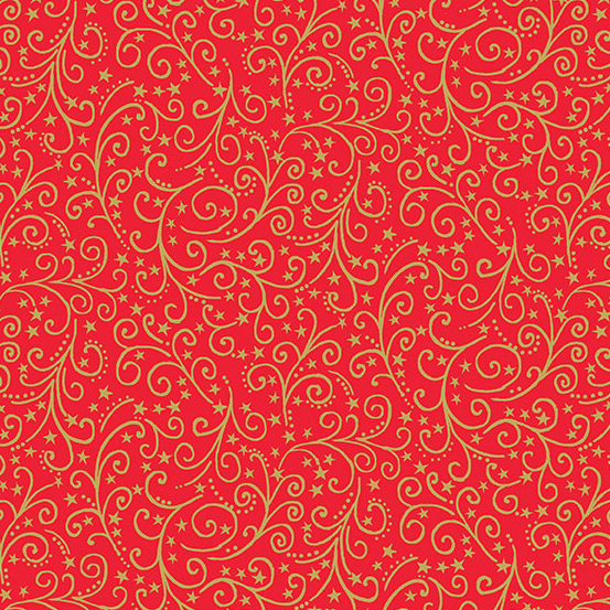 12 Days of Christmas TP-2097-R Red Scroll