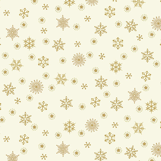 12 Days of Christmas TP-2099-Q Cream Snowflake