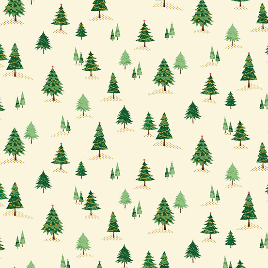 12 Days of Christmas TP-2101-1 Cream Mini Trees