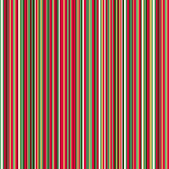Twelve Days of Christmas Stripe Metallic