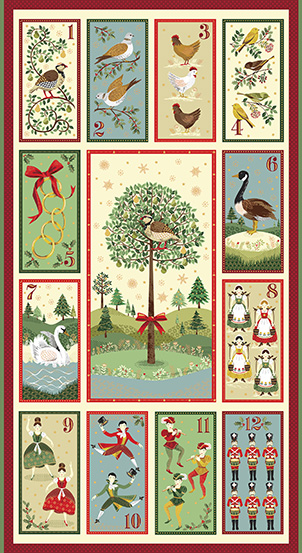 12 Days of Christmas TP-2104-1 Multi 12 Days Panel