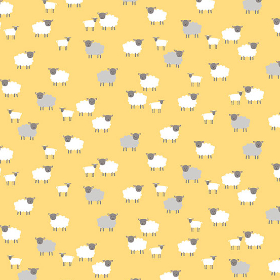 TP-2190-Y Yellow Sheep Spring Makower UK Andover