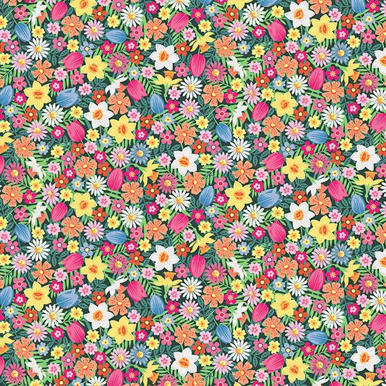 Spring tossed flowers