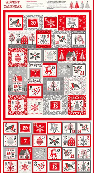 Makower Scandi Advent Calendar - Multi