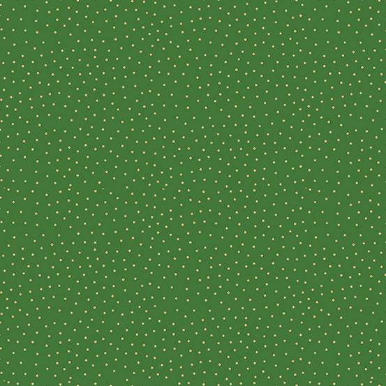 Makower UK Yuletide TP-2247-G Metallic Green Spot