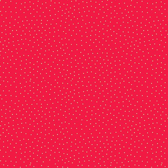 Makower UK Yuletide TP-2247-R Metallic Red Spot