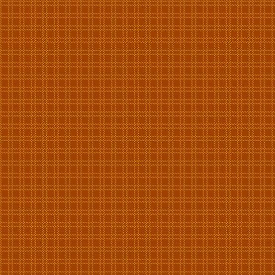 Pumpkin Patch Plaids Orange Squares