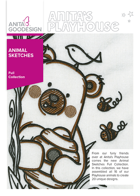 Anita Goodesign Embroidery Designs Animal Sketches
