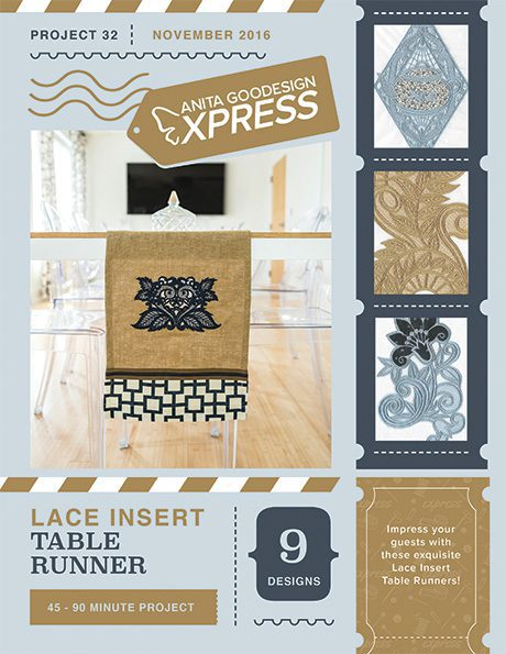 Anita's Express - Lace Insert Table Runner