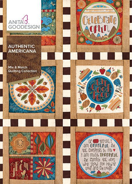 Anita Goodesign Embroidery Designs Authentic Americana