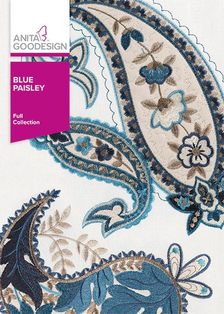 Anita Goodesign Embroidery Designs Blue Paisley