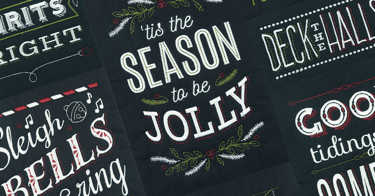 Christmas Blackboard Quilt