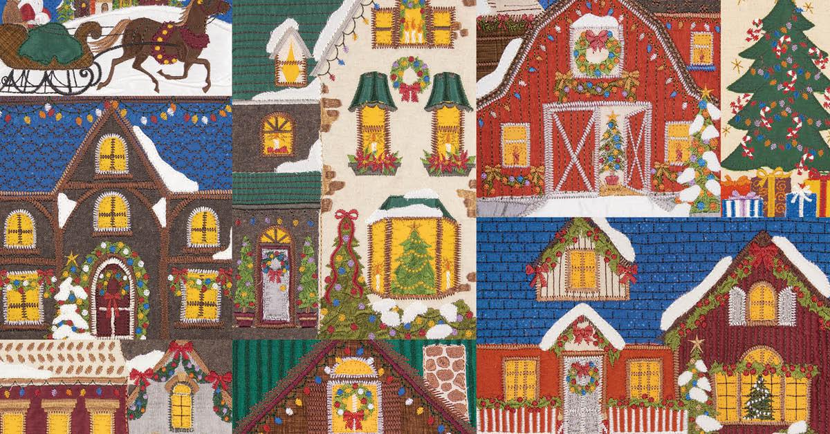 Christmas Village Quilt - Mix & Match - Download