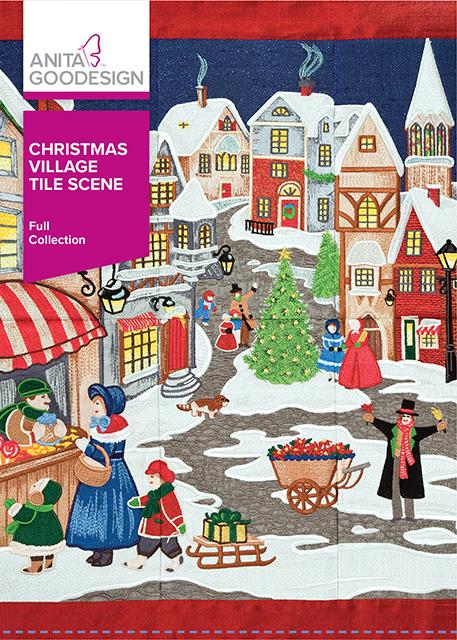 Christmas Village Tile Scene