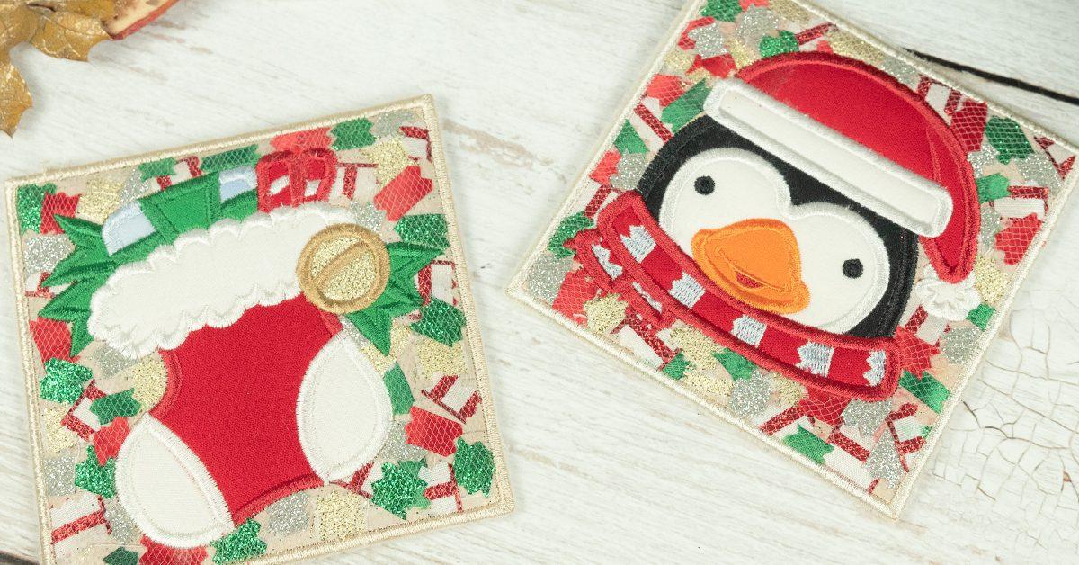 Confetti Christmas Coasters