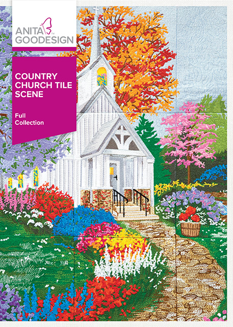AG Country Church Tile Scene