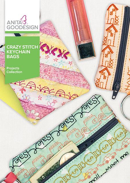 Crazy Stitch Keychain Bags