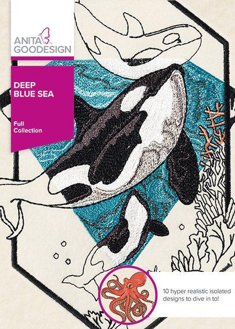 Deep Blue Sea Machine Embroidery CD