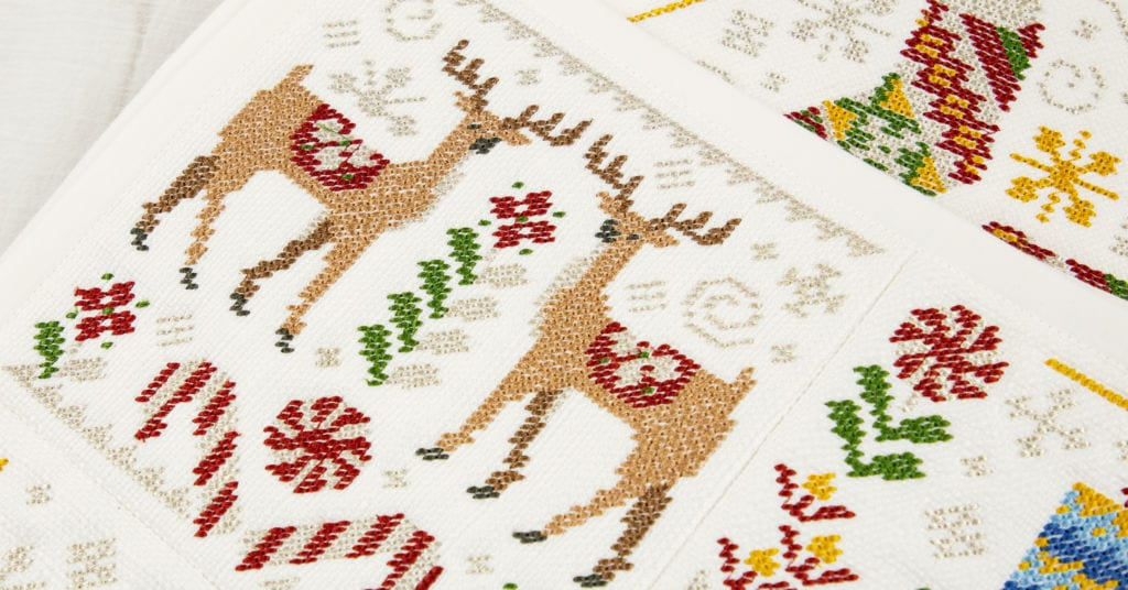 Needlepoint Christmas Quilt - Mini Collection - Download