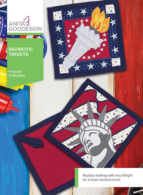 Patriotic Trivets Machine Embroidery CD