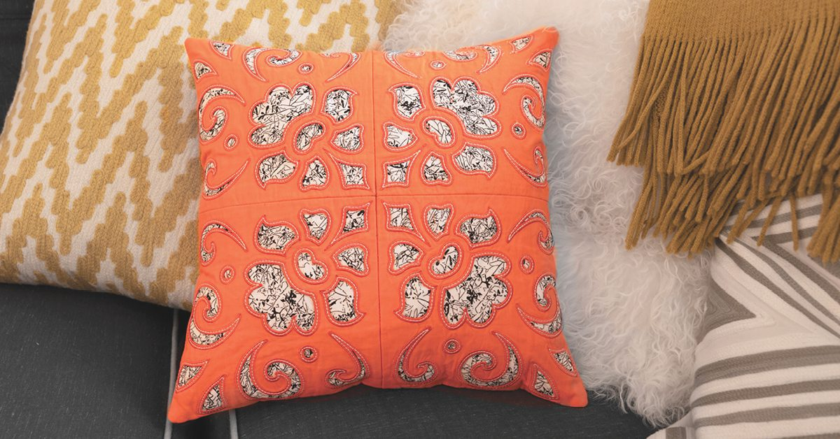 Reverse Cutwork Block Pillow - Projects Collection - Download