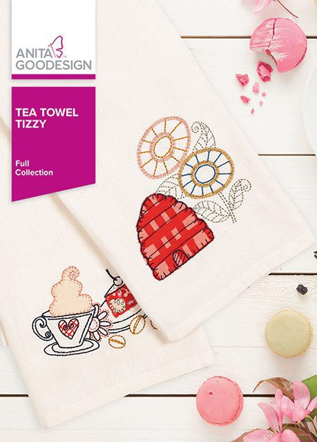 Tea Towel Tizzy Machine Embroidery CD