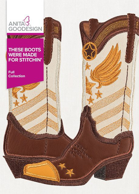 These Boots Were Made for Stitchin' Machine Embroidery CD