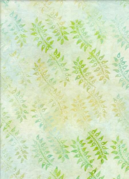 BeColourful Batik - Pale Green Leaf