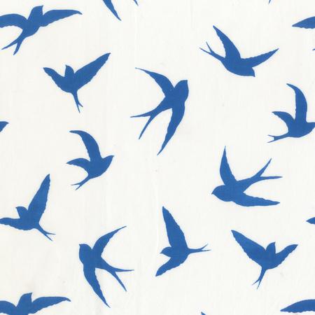 Batik- Cotton Print- Art Inspirations- Birds- Blue STH#11229231