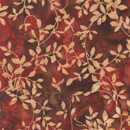 Batik- Cotton Print- Art Inspirations - Brick- Vines- STH#11229394