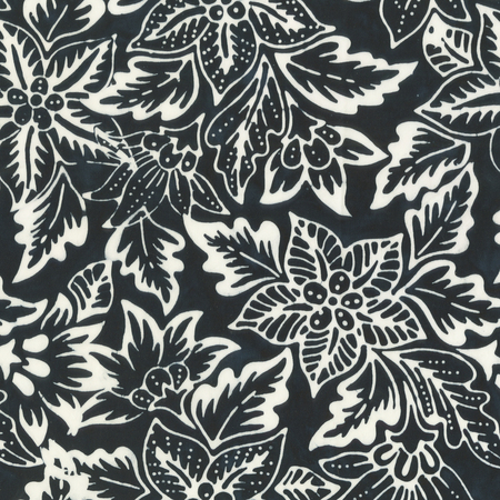 Batik- Cotton Print- Art Inspirations- Botanical- Ink STH#11229235
