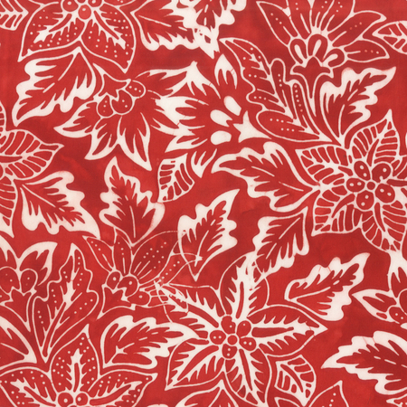 Batik- Cotton Print- Art Inspirations- Botanical- Red STH#11229236