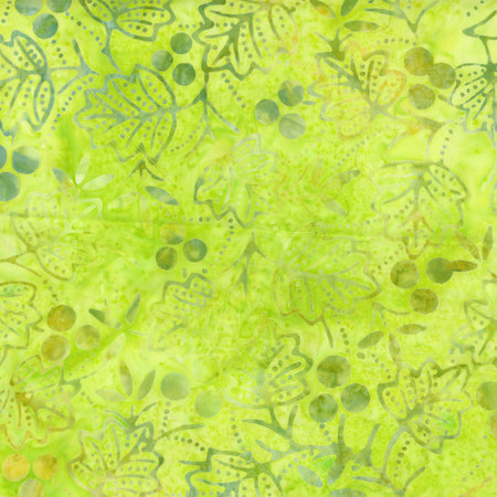 205Q 8 Lime Batik for Anthology Fabrics. 100% cotton 43 wide